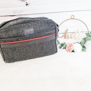 Givenchy vintage 1970s gray carbon travel bag